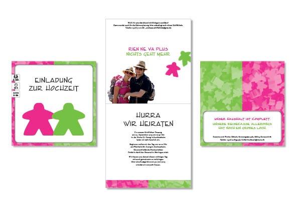 Nun Hab Ich Für Die Beiden Natürlich Auf Sie Zugeschnittene Einladungskarten  Entworfen. Da Beide Gesellschaftsspiele Fans Sind Und Sich Als Kartenmotiv  U201c ...