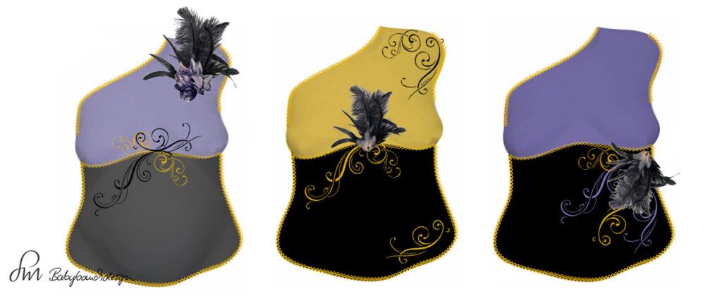 Gipsabdruck Babybauch Entwurf Venedig Maske